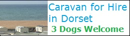 caravan for hire bradstock Dorset 3 dogs