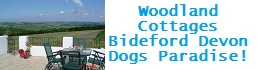 dog friendly self-catering cottages Bideford Devon